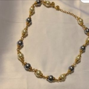Kenneth Jay Lane Two Tone Pearl Choker
